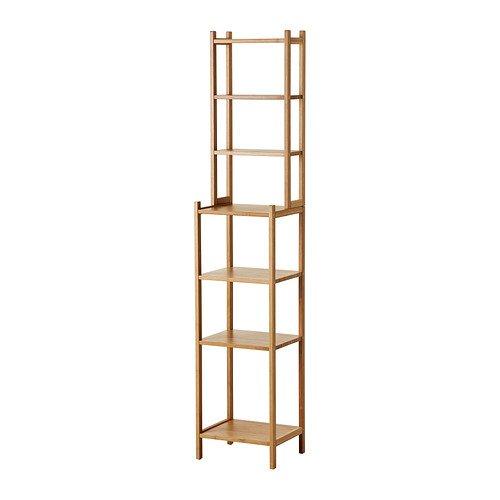 IKEA RAGRUND Regal aus Bambus; (33x163cm)