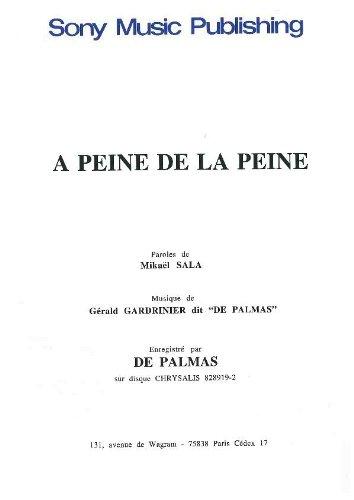 A PEINE DE LA PEINE