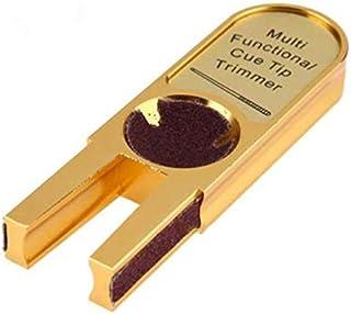 U Shape Billiard Pool Cue Tip Trimmer Mini Alloy Brick Ultimate Tip Tool Billiards Tools Accessories