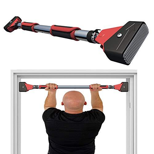 Tragbare, horizontale Tür-Übungsstange, Türrahmen, Klimmzugstange mit Verriegelungsmechanismus, rutschfeste Handgriffe, für den gesamten Oberkörpertra