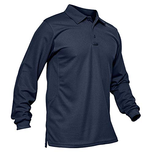 MAGCOMSEN Long Sleeve T Shirt for Men Work Polo Performance Quick Dry...