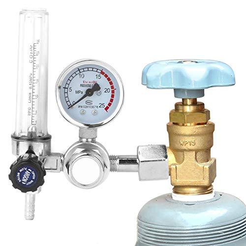 【𝐏𝐚𝐬𝐜𝐮𝐚】 Zouminyy Argón CO2 Mig Tig Medidor de flujo Regulador Medidor de presión Piezas del soldador, Argón CO2 Medidor de flujo Regulador de soldadura