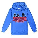 Stranger Things Sudadera con capucha unisex para niñas de 3 a 15 años Azul Estilo03 9-10 Años
