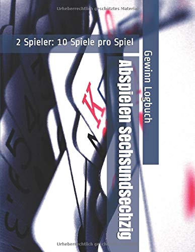 Abspielen Sechsundsechzig - 2 Spieler: 10 Spiele pro Spiel - Gewinn Logbuch