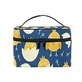 ユキオ(UKIO) メイクポーチ 大容量 シンプル かわいい 持ち運び 旅行 化粧ポーチ コスメバッグ 化粧品 卵の雛 鳥 レディース 収納ケース ポーチ 収納ボックス 化粧箱 メイクバッグ