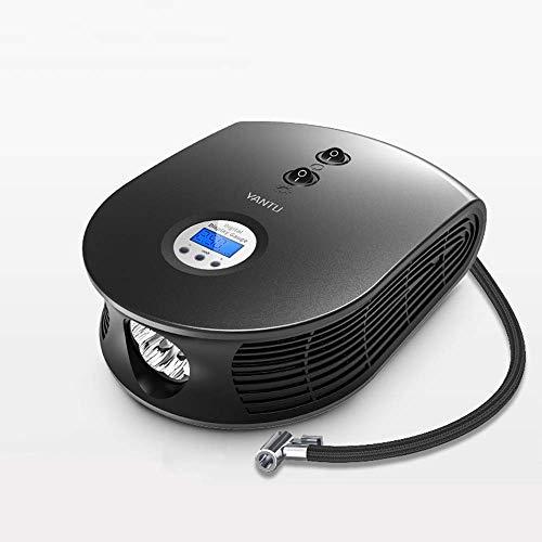 Portable luchtcompressoren, 12V DC 150 PSI Sigarettenaanstekerplug Auto Digital Compressor Tire Pomp, met LED-licht for auto's, vrachtwagens, fietsen of campers AQUILA1125 (Size : Black)