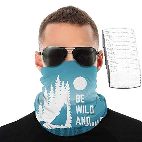 Be Wild And Wonder - Toalla para la cara, transpirable, resistente al viento, para hombre y mujer, para deportes al aire