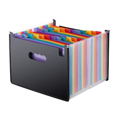 Fashion SHOP Archivio Ufficio 24 Tasche Cartella espandibile File Organizer A4 File Aziendale Portatile Documenti for Ufficio Divisori per Schedario