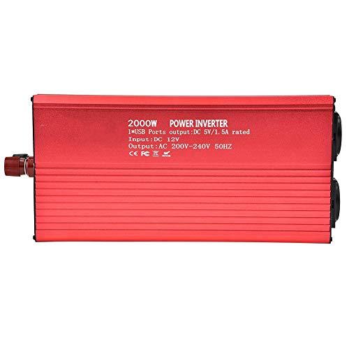 Fdit Inverter de onda sinusoidal pura convertidor 12 V 220 V 2000 W Power Inverter con panel solar Inverter Sine Wave Inverter DC 50/60 Hz Solar convertidor para uso doméstico