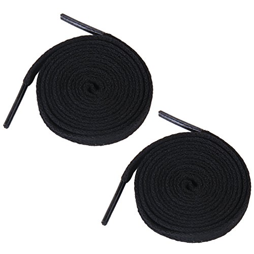 TOOGOO(R) 6 paires de lacets plats de chaussures pour Baskets Bottes Chaussures 8mm 140cm