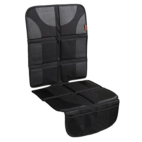Lusso Gear Car Seat Protector with Thickest Padding - Featuring XL Size (Best Coverage Available), Durable, Waterproof 600D Fabric, PVC Leather Reinforced Corners, & 2 Large Pockets for Handy Storage