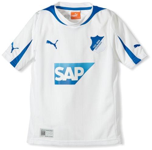 PUMA Kinder Trikot TSG 1899 Hoffenheim Away Kids Shirt Replica w/o Sponsor, White-puma royal, 176, 746774 01