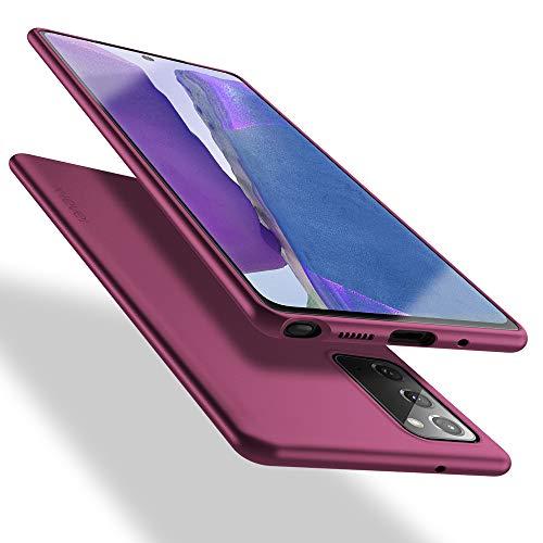 X-level Samsung Galaxy Note 20 Hülle, [Guardian Serie] Soft Flex TPU Hülle Superdünn Handyhülle Silikon Bumper Cover Schutz Tasche Schale Schutzhülle für Samsung Galaxy Note 20 5G - Weinrot