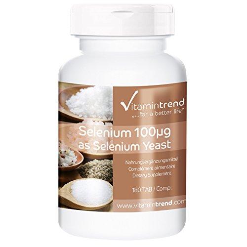 Selen 100mcg - 180 Tabletten - ! FÜR 6 MONATE ! - vegan - aus Selenhefe