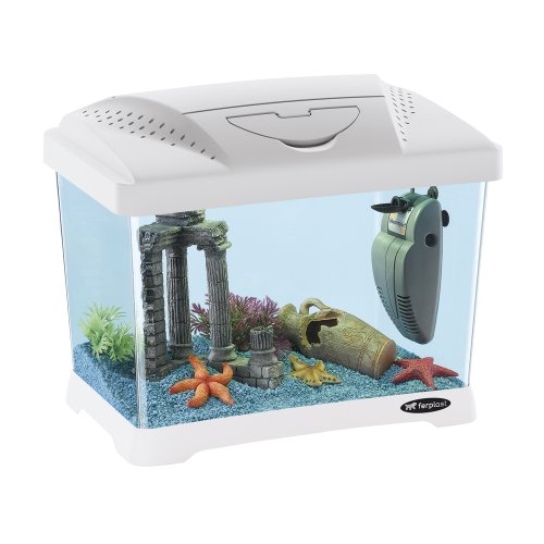 Ferplast 65010011 Aquarium CAPRI JUNIOR, Maße: 41 x 26,5 x 34 cm, 21 Liter, weiss