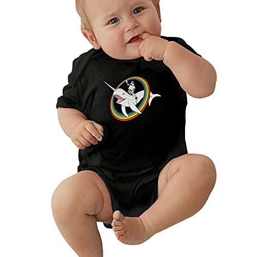 Narwhal Rainbow Stormtrooper - Mameluco unisex para bebé, Negro, 1 mes
