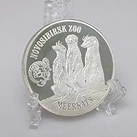 銀メッキ英領バージン諸島ミーアキャットパターンコイン記念エリザベス2世コレクションコインビジネスギフト用