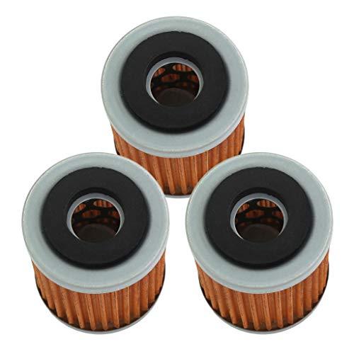 HURI 3X Ölfilter Ersatz MF143 HF143 für Trailway TW 125 N, TW 125 H, SR 125, XT 350 H, XT 350 N Modelle SR, TT, TW, XT, YFB, YFM 125-600ccm