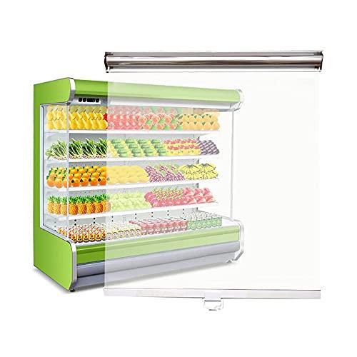 LIANG La Sombra De Rodillo De Plástico Transparente para Congeladores Muestra Gabinetes De Cortina, con Mango De Tracción, Pantalla A Prueba De Polvo A Prueba De Agua A Pr(Size:65x80cm/25.6' x 31.5')