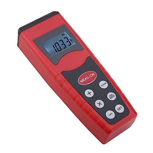 CP-3000 Digital LCD Medidor de Distancia de Longitud de Mano, Handhold Telémetro Ultrasónico, con Alta Precisión, para Procesos de Construcción de Habitaciones, Apartamentos