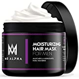 MR ALPHA Hair Mask for Dry, Damaged Hair, 8oz - Moisturizing Argan Oil Deep Conditioner Treatment with Coconut Oil, Caffeine For Hair Growth, Healthy Scalp, Thicker-Looking Hairline - Made In USA