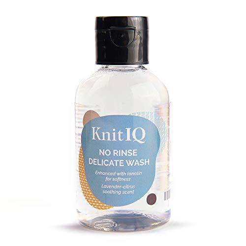 KnitIQ Natürliches Feinwaschmittel OHNE AUSSPÜLEN, mit Lanolin für Wolle Seide Feines, dezenter Lavendel-Zitrus Duft, 118 ml, 20 Wäschen