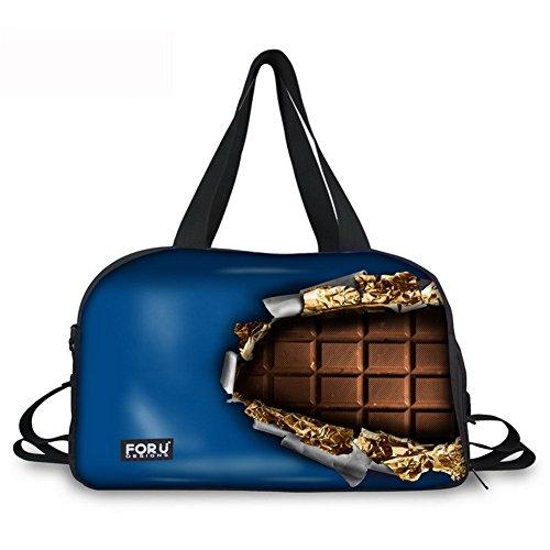 Reisetasche Sporttasche Schokolade Reisetaschen Reise Duffel Tasche Tragetasche Handtasche mit Schuhfach C055 ONE Size
