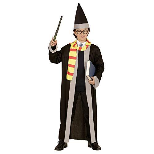 Widmann 01148 ? Wizard ? Déguisement ? Chapeau, écharpe et Chapeau Déguisement Noir