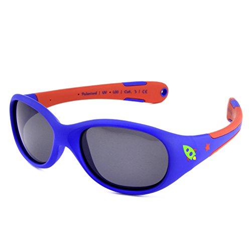 ActiveSol BABY-Sonnenbrille | JUNGEN | 100% UV 400 Schutz | polarisiert | unzerstörbar aus flexiblem Gummi | 0-2 Jahre | 18 Gramm [Size L - Rocket]