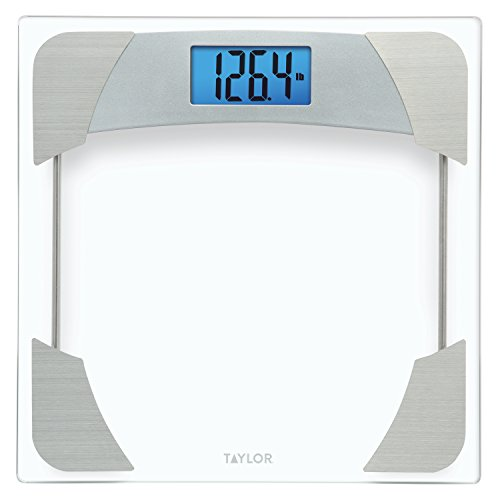 Taylor 400 Lb. Capacity Digital Glass Bathroom Scale with Stainless Steel Accents