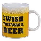 OOTB 'I Wish This was a Beer' Coffee Mug, Porcelain, Multi-Colour, 11 x 11 x 13 cm