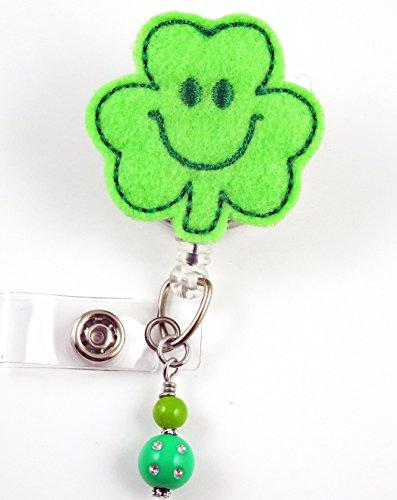 St Patrick's Day Clover- Nurse Badge Reel - Retractable ID Badge Holder - Nurse Badge - Badge Clip - Badge Reels - Pediatric - RN - Name Badge Holder