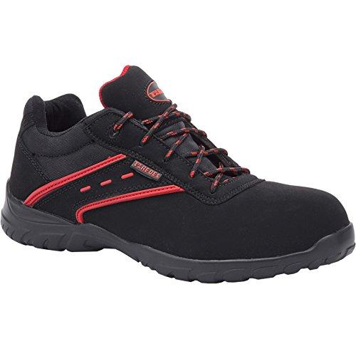 Paredes ACTINIO NEGRO PAREDES SP5016-NE/41 - Zapato seguridad negro y rojo, puntera + plantilla Compact No metálica. Modelo ACTINIO NEGRO. Categoría S3 SRC - Talla 41