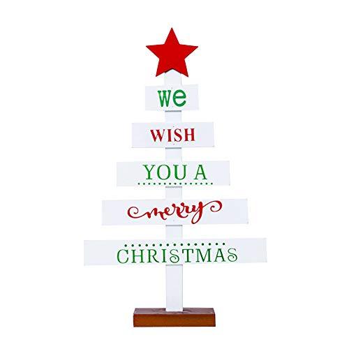 Decorazione natalizia in legno con scritta in inglese