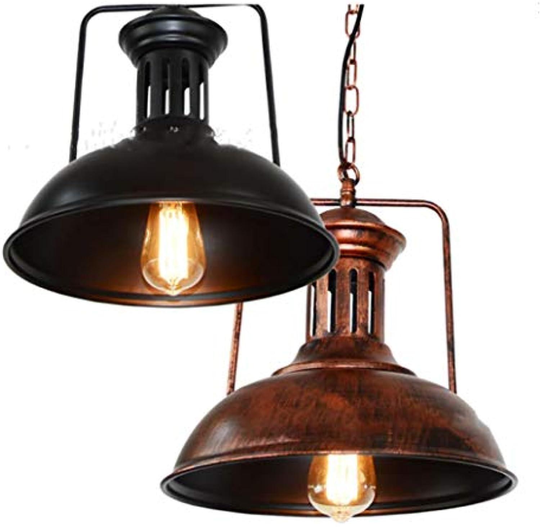 D-HHd1 Kronleuchter Retro Restaurant Café Deckelform personalisierte kreative antike dekorative Lampen @ schwarz