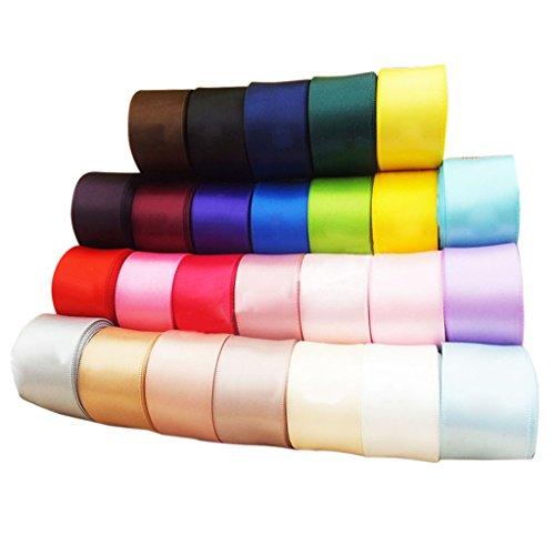 Phenovo 24pcs 40mm Cintas Artesanales de Color Multicolor