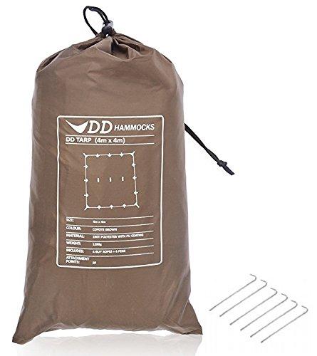 DD Tarp タープ 4x4 耐水性 3000mm 使いやすい正方形タープ & 6 x 9