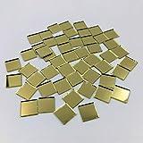 3/8' cuadrado espejo mosaico azulejos oro color artesanía espejos 200 piezas