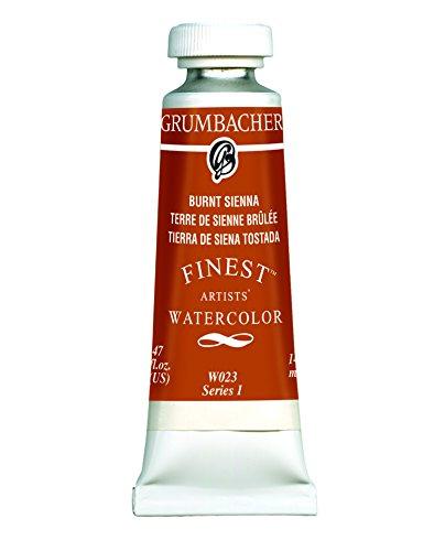 Grumbacher Finest Watercolor Paint, 14 ml/0.47 oz, Burnt Sienna
