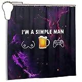 MYGED Cortina de Ducha Hombre Simple Amor Tetas Juegos de Cerveza Cortinas de Ducha duraderas Decoración Set 72 X 72 Pulgadas Plástico