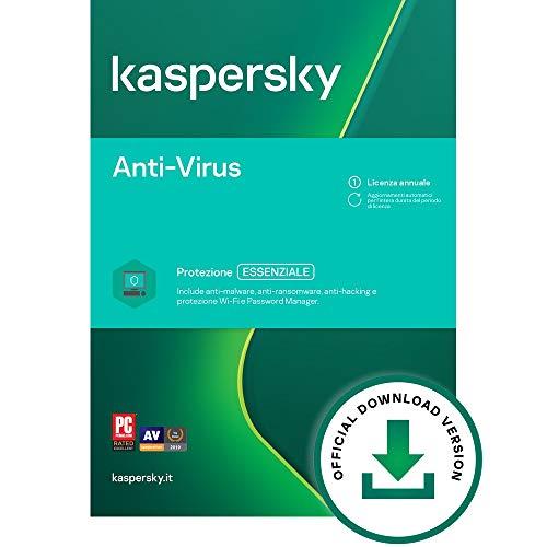 Kaspersky Anti-Virus 2021 | 2 PCs | 1 Anno | PC | Codice d attivazione via email