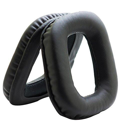 MMOBIEL Ohrpolster Ear Pad Ersatz kompatibel mit Logitech G35 G930 G430 F430F450 Kopfhörer (Schwarz)