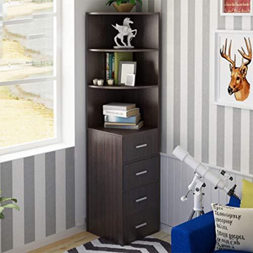 HUO Rack de stockage de Cabinet de coin de Cabinet de coin de stockage simple de pièce de rangement Étagère murale créative (Couleur : G)