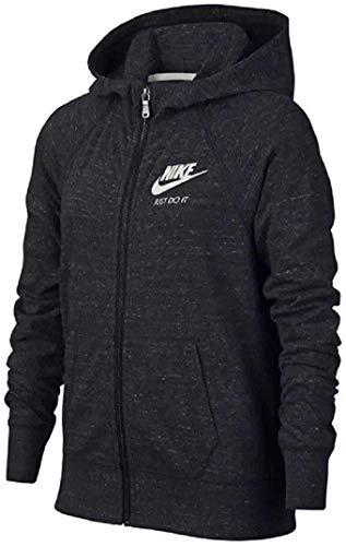 Nike Girls Gym Vintage Full Zip Hoodie Black Size Large (L)