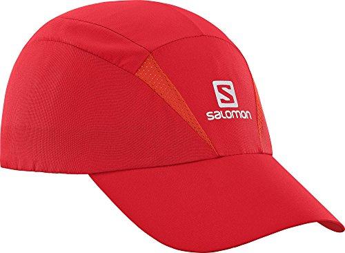 Salomon Unisexe Casquette en Maille, Imperméable, XA CAP, Taille Ajustable, L/XL, Rouge, L40047800