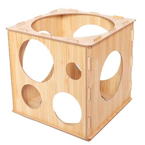 Medidor de cajas de globos, Caja de globos para medir el globo, Caja de medición de globos de madera de 10 hoyos para decoraciones de globos perfectos, Arcos de globos, Columnas Diy 2-10inches