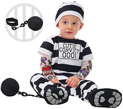 Spooktacular Creations Baby Prisoner Costume (3T) Black