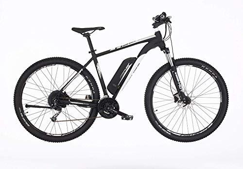 Fischer E-Mountainbike EM 1724, E-Bike MTB, schwarz weiß, 29Zoll, RH 51 cm, Hinterradmotor 45 Nm, 48 V Akku