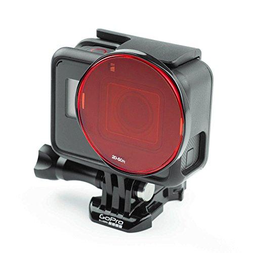 SANDMARC Aqua Filter: Tauchen Filter für GoPro Hero 7/6 / 5 - Rot, Magenta und Gelb Filter Set - Tauchen und Schnorchel Zubehör - 5 Pack