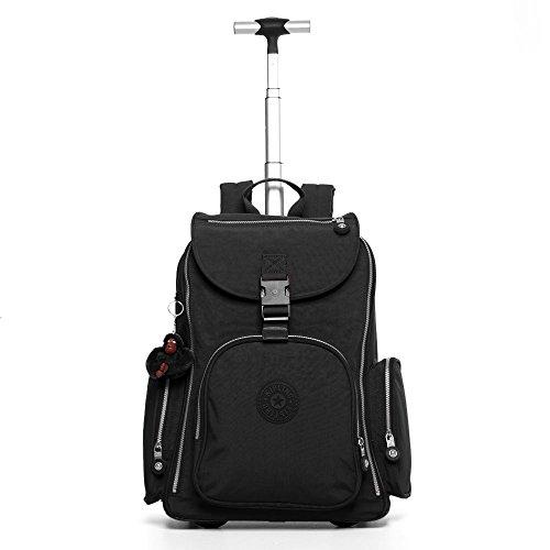 Kipling Luggage Alcatraz Wheeled Backpack with Laptop Protection, Black, One Size